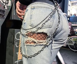 booty, fishnet, and chain image