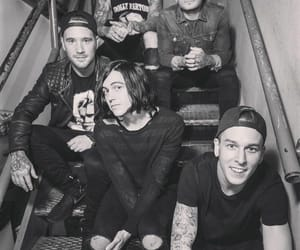 sleeping with sirens, band, and black and white image