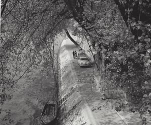 black and white, paris, and retro image