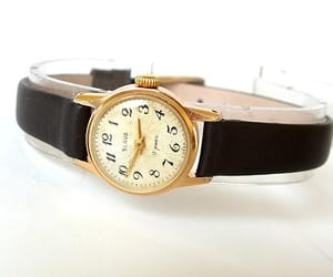 etsy, vintage watch, and leather watch image