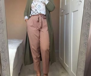 bow pants, dressy pants hijab, and tie pants image