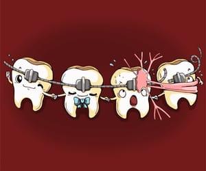 dibujo, dientes, and divertido image