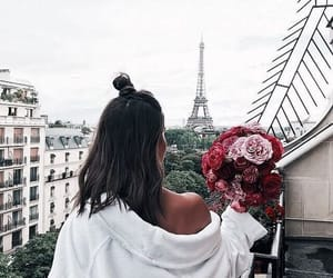 flowers, paris, and beauty image