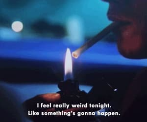 cigarette, gif, and smoke image