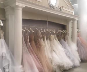 dress, wedding, and aesthetic image