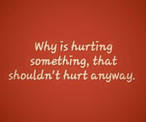 depressed, feelings, and hurt image