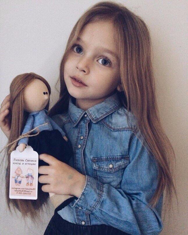 girl, beautiful, and child image