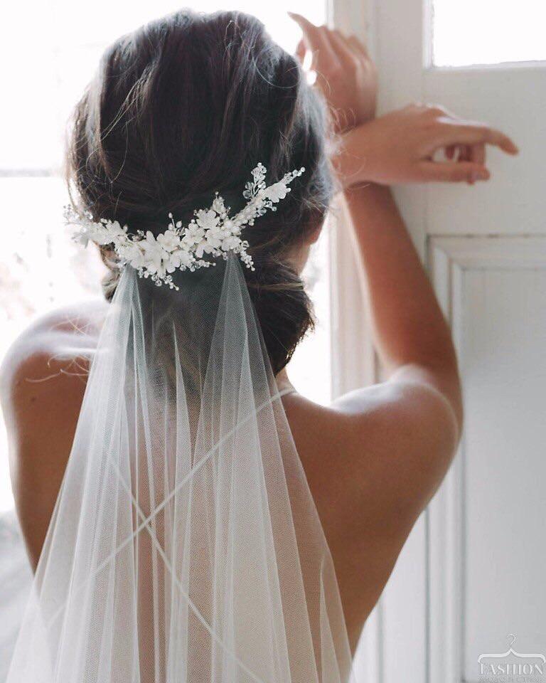 wedding, bride, and hair image