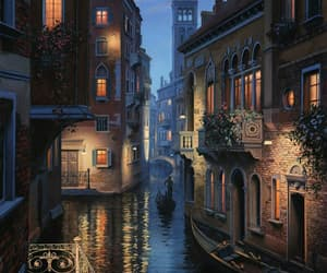 art, drawing, and venice image