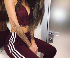 girl, fashion, and tattoo image