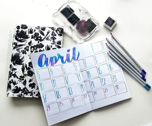 april, writing, and bullet journal image