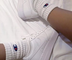 air force 1, nike, and champion image
