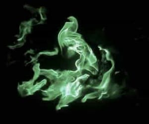 fire, green, and harry potter image