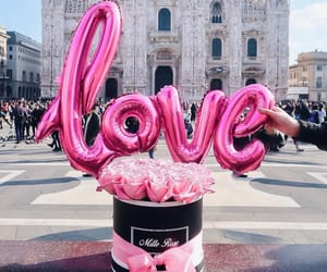 love, pink, and italy image
