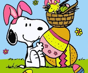 easter, snoopy, and eggs image