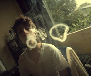 boy, smoke, and guy image