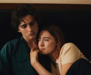 lady bird, timothee chalamet, and Saoirse Ronan image
