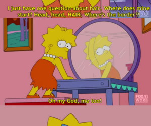 funny, simpsons, and hair image