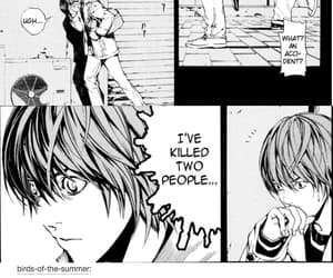 death note, light yagami, and tumblr text post image