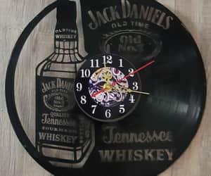 interior design, clock, and jack daniels image