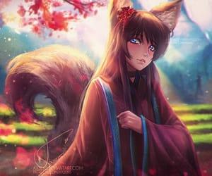 anime, cherry blossom, and art image