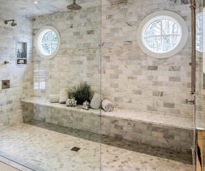 shower, bathroom, and home image