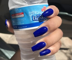 blue, nails 2018, and blue nails image