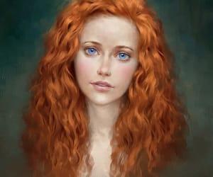 art and blue eyes image