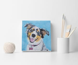 dogs, painting, and dog wall art image