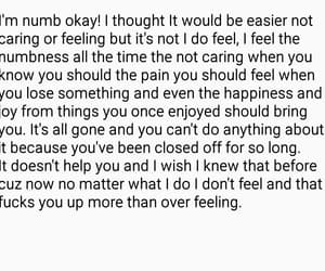 feeling, NUMB, and nothing image