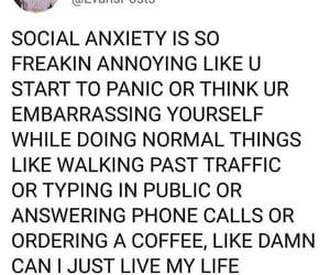 anxiety, sad, and shy image