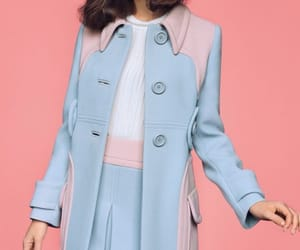 pink, blue, and Felicity Jones image