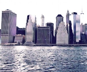 city, new york, and pink image