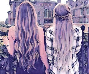 best friends, hair, and bff image