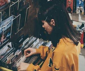 girl, vintage, and yellow image