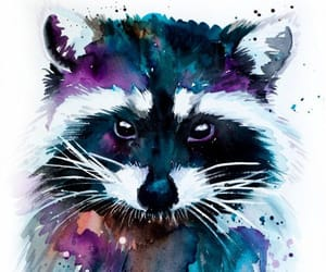 art, animal, and watercolor image