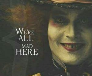 alice in wonderland, johnny depp, and mad image