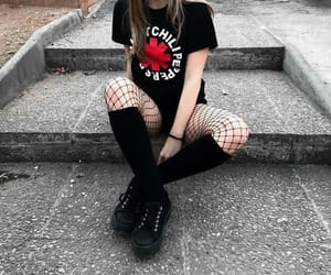 aesthetic, grunge, and black image