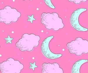 background, clouds, and stars image