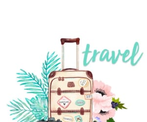 travel, wallpaper, and suitcase image