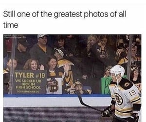 funny, hockey, and girls image