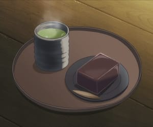anime food, youkai apartment no, and yokan image