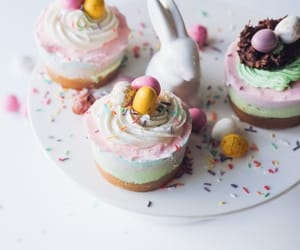 bunny, candy, and cupcakes image