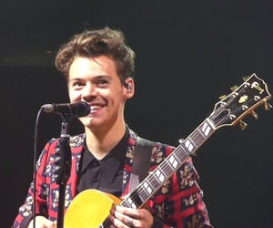 guitar, stage, and Harry Styles image