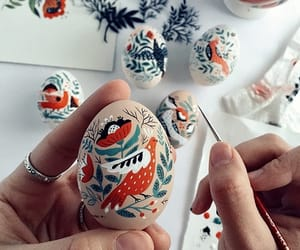 art, colors, and easter image