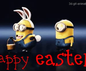 easter, minions, and bunny image