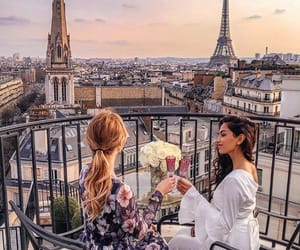 paris, friendship, and girls image