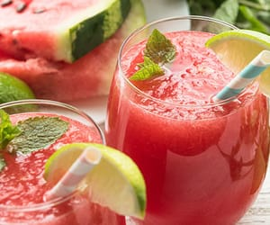 article, drink, and watermelon mojito image