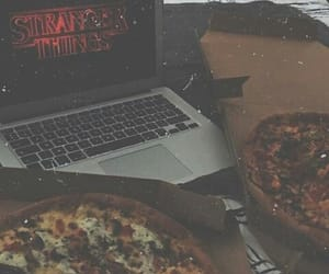 pizza and stranger things image