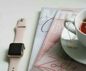 apple, magazine, and tea image